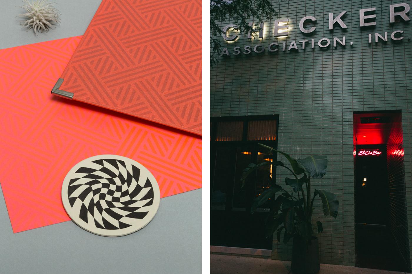 branding  menu design el che bar identity
