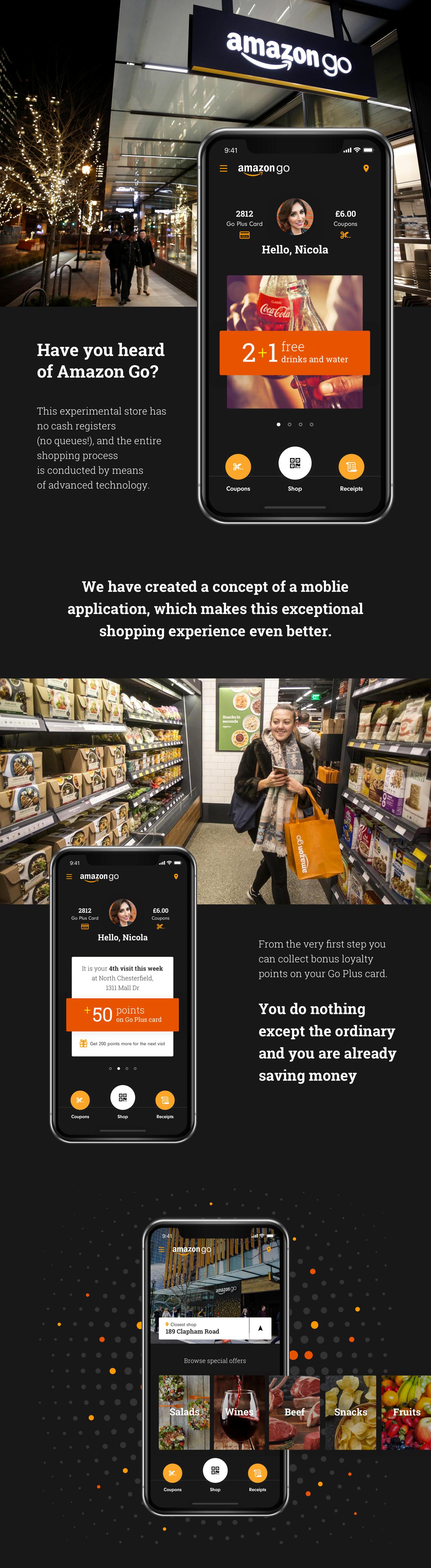 Amazon Amazon Go mobile Shopping animation