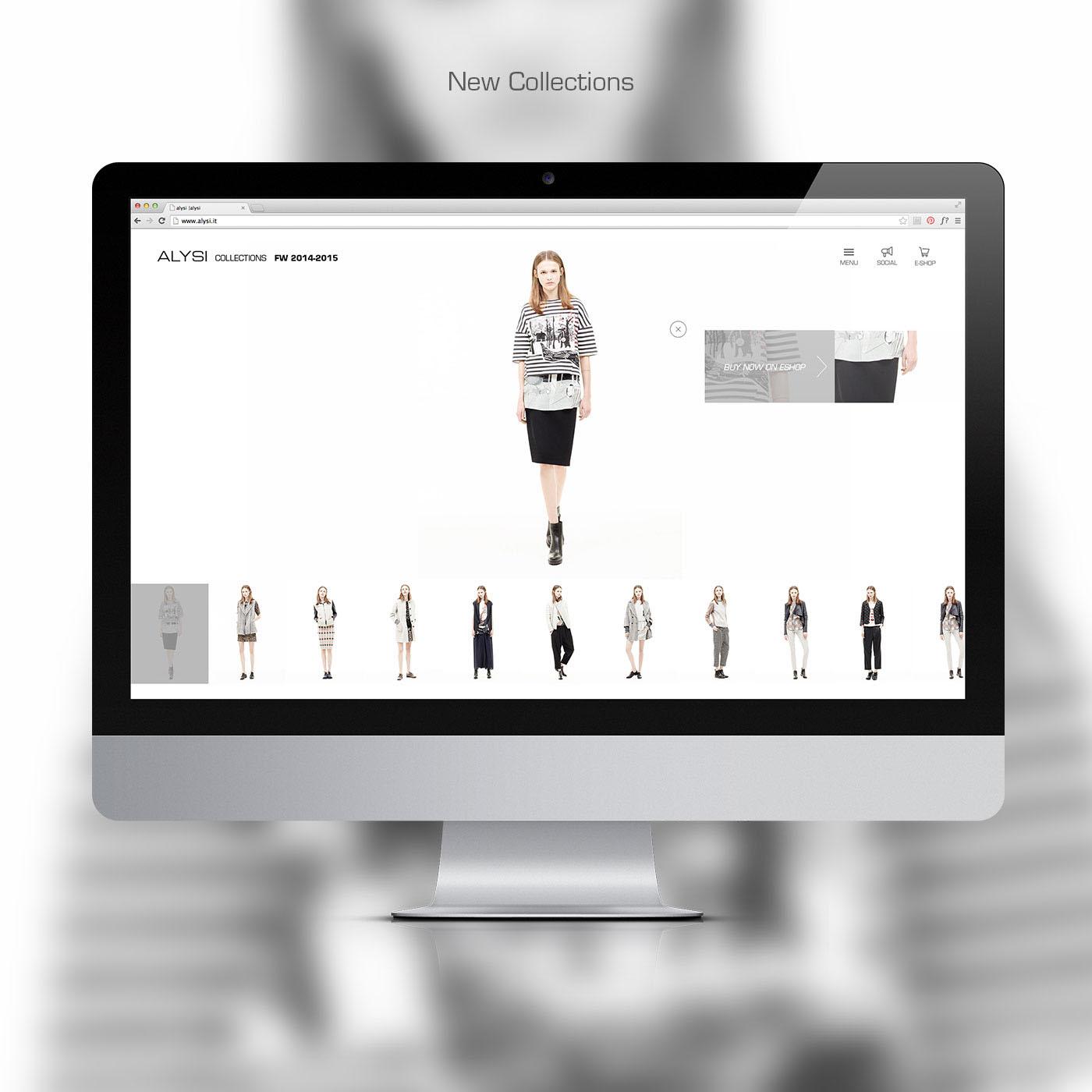 moda Rome Italy Webdesign Responsive White black interactions motion mobile tablet smartphone iphone iPad alysi
