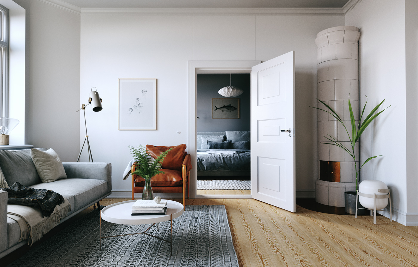 Stockholm apartment on Behance