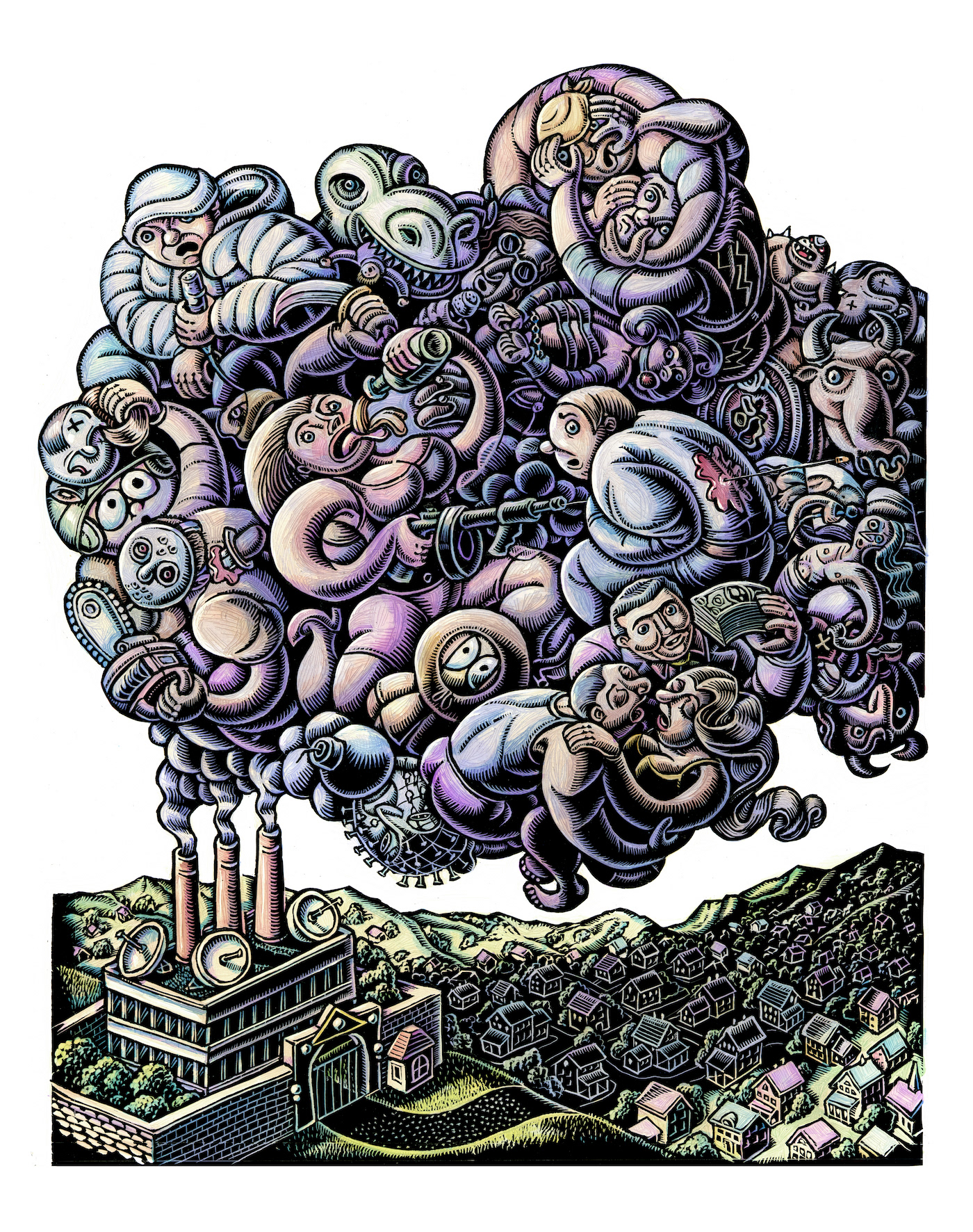 factory releases cloud of cultural pollution