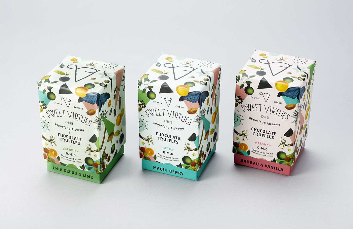 chocolate health food Food Packaging truffles product design  iwant sweet virtues superfood