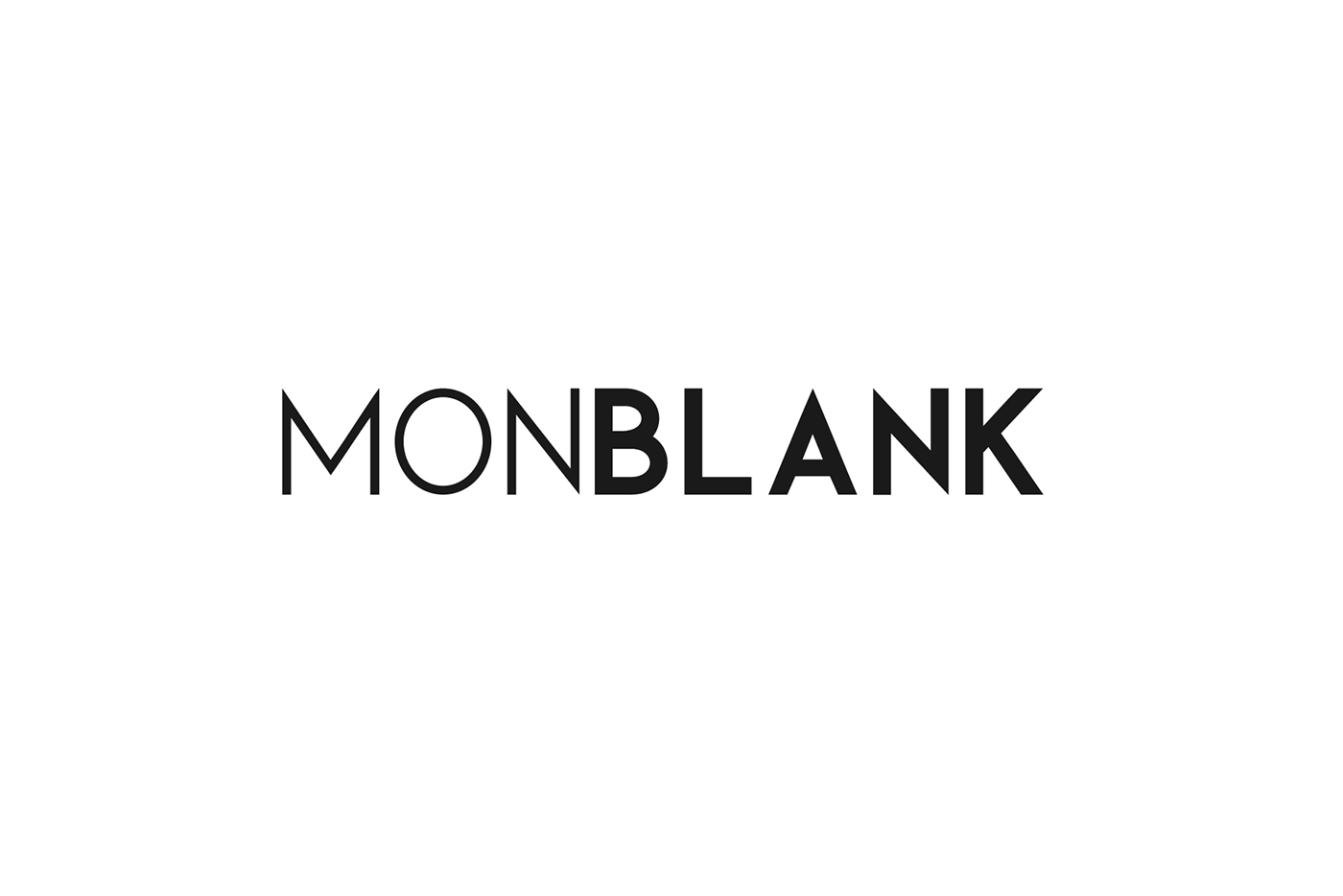 Monblank font family otf type typography   print letter Script sans serif