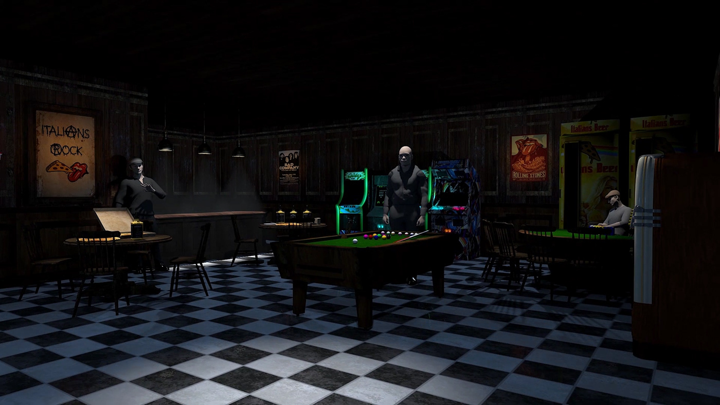 3D animation  design characterdesign environment vfx 3dsmax background noir Film