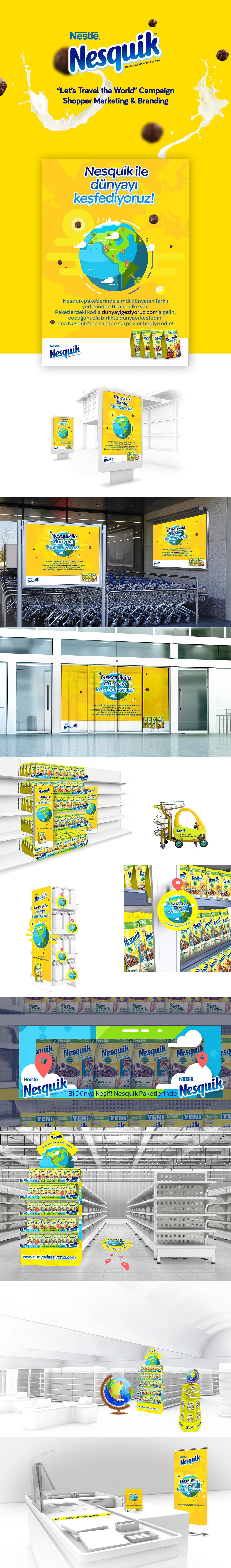 nestle Nesquik shopper marketing activation Supermarket Supermarket Branding Shopping