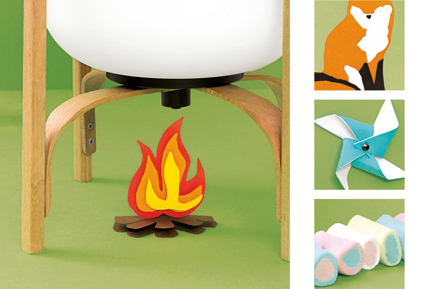 set design  Trompe Oeil imagination editorial Playful papercraft naif surrealism illusion Poetry
