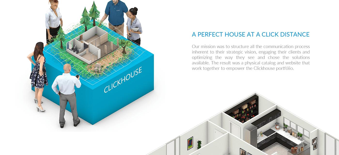 architecture modular editorial design  Isometric 3D interior design  decoration branding  design Web Design
