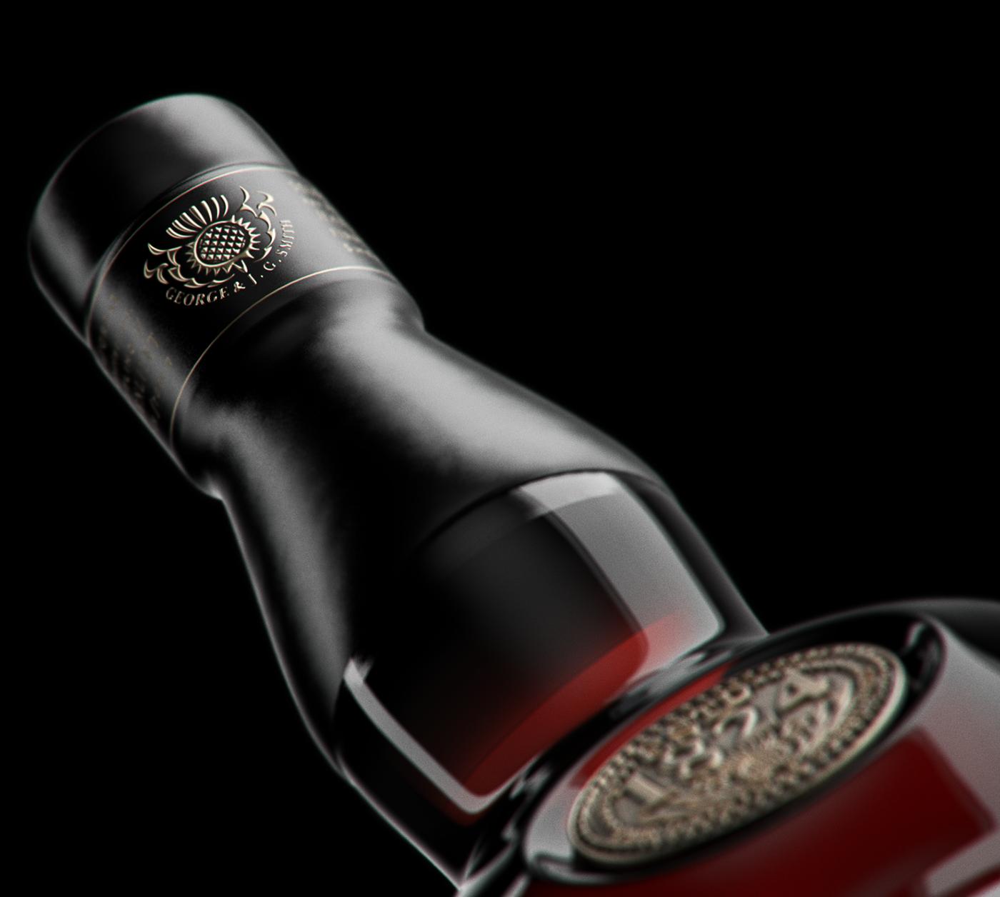 Whisky Whiskey Glenlivet Autodesk Martin Kamminga   christiaan design8 keyshot 3ds max realflow Vodka modeling rendering CGI