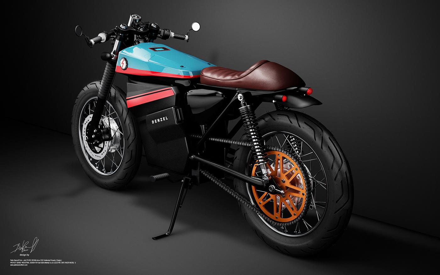 Honda Electric Cafe Racer Design On Behance