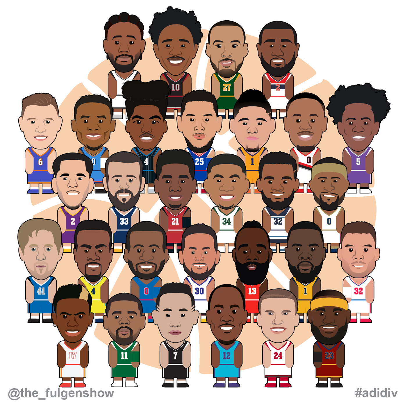 Nba Teams: NBA TEAMS 2018 On Behance