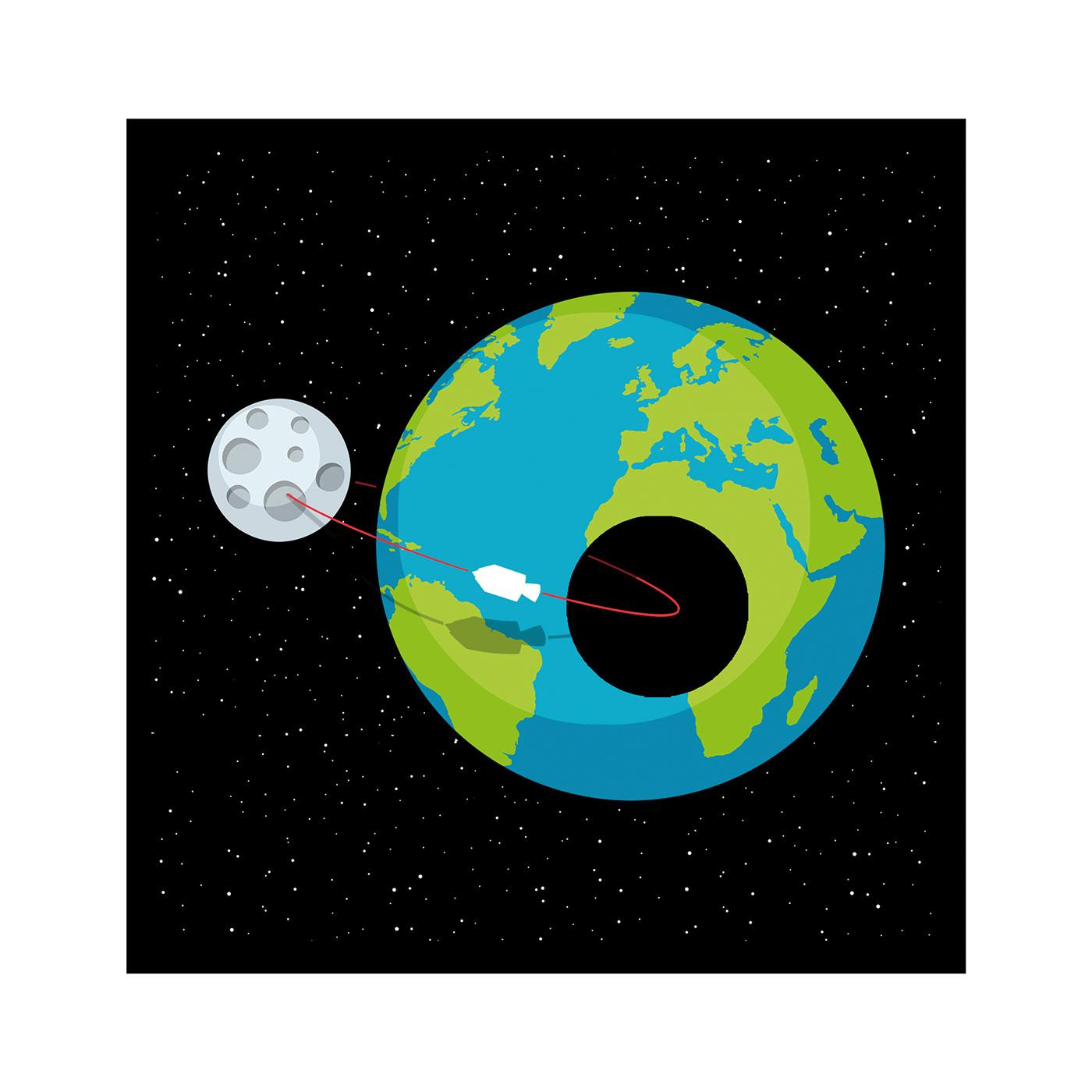 allunaggio apollo 11 earth landing moon NEIL ARMSTRONG SKY
