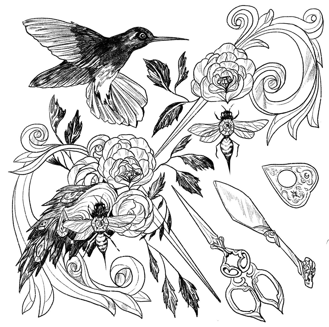 Procreate tattoo line drawing Pencil drawing ink drawing inktober inktober2019 Drawing  Figure Drawing