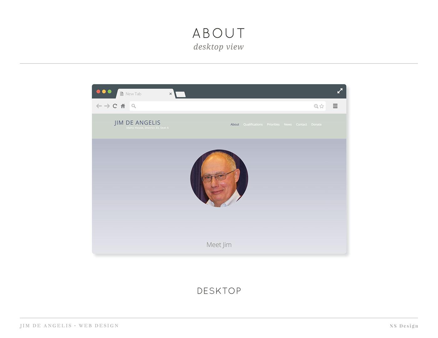 Web Design  Idaho political website