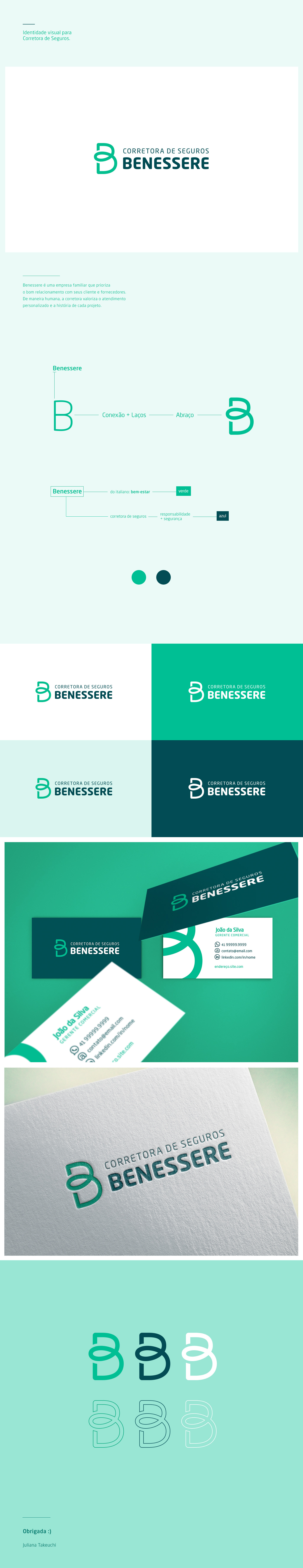identity branding  logo ensurance broker green safe seguro Corretora