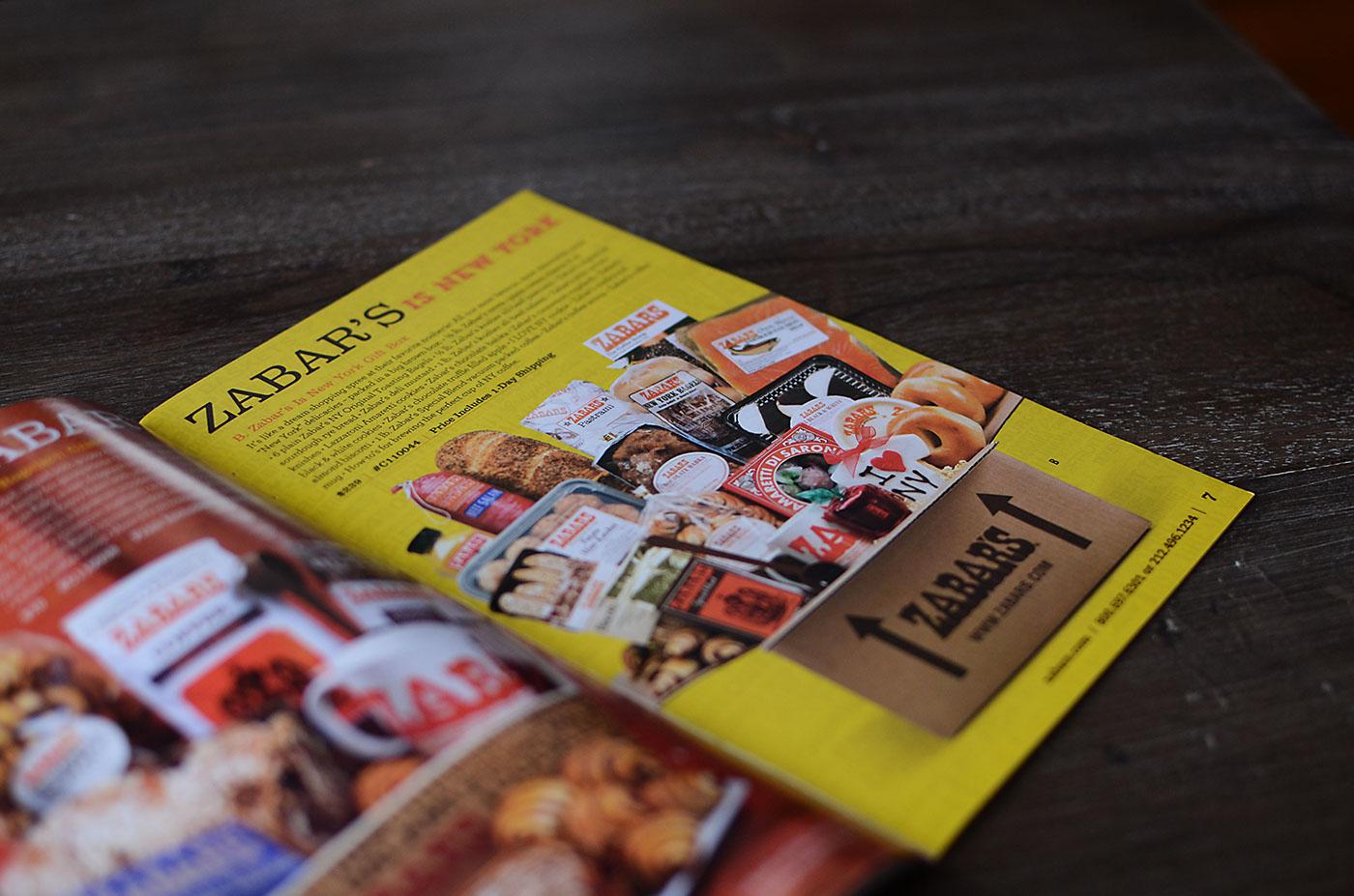 Zabar's catalog page design