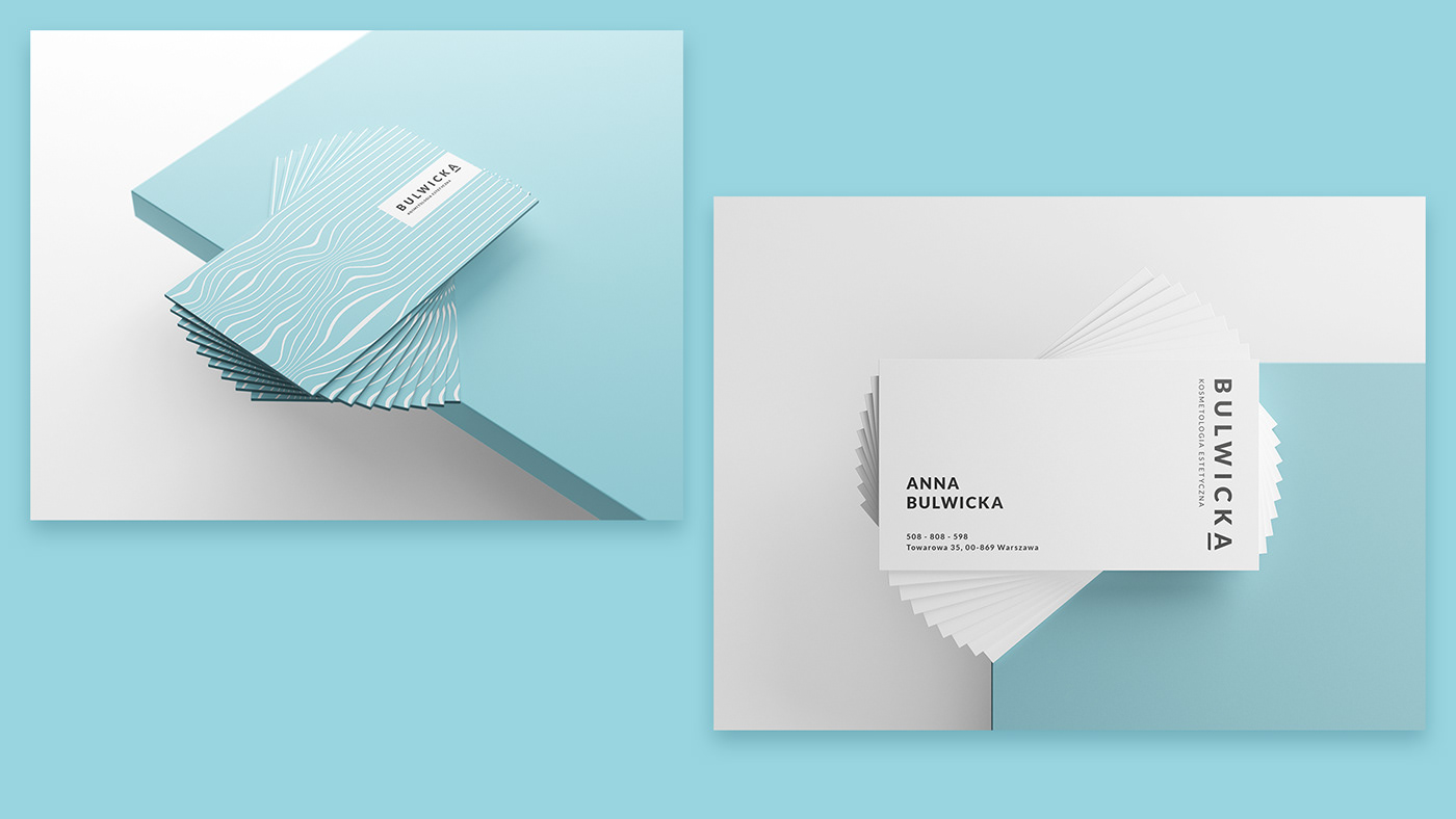 branding  beauty Cosmetology logo blue business card graphic design clinic