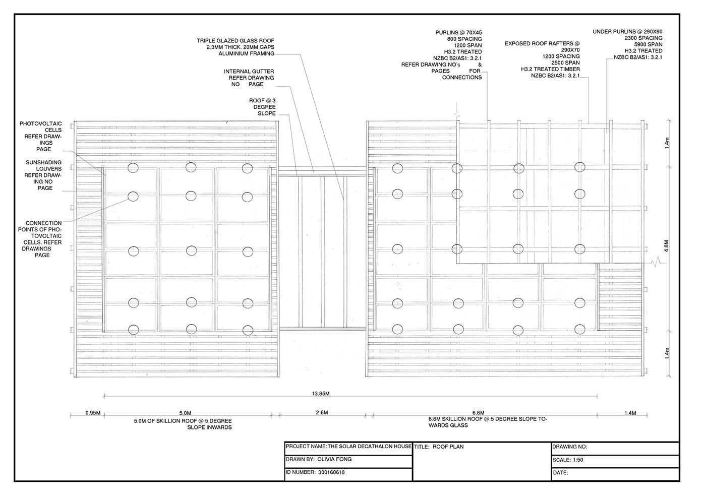 Construction drawings roof details on behance for Roof drawing app