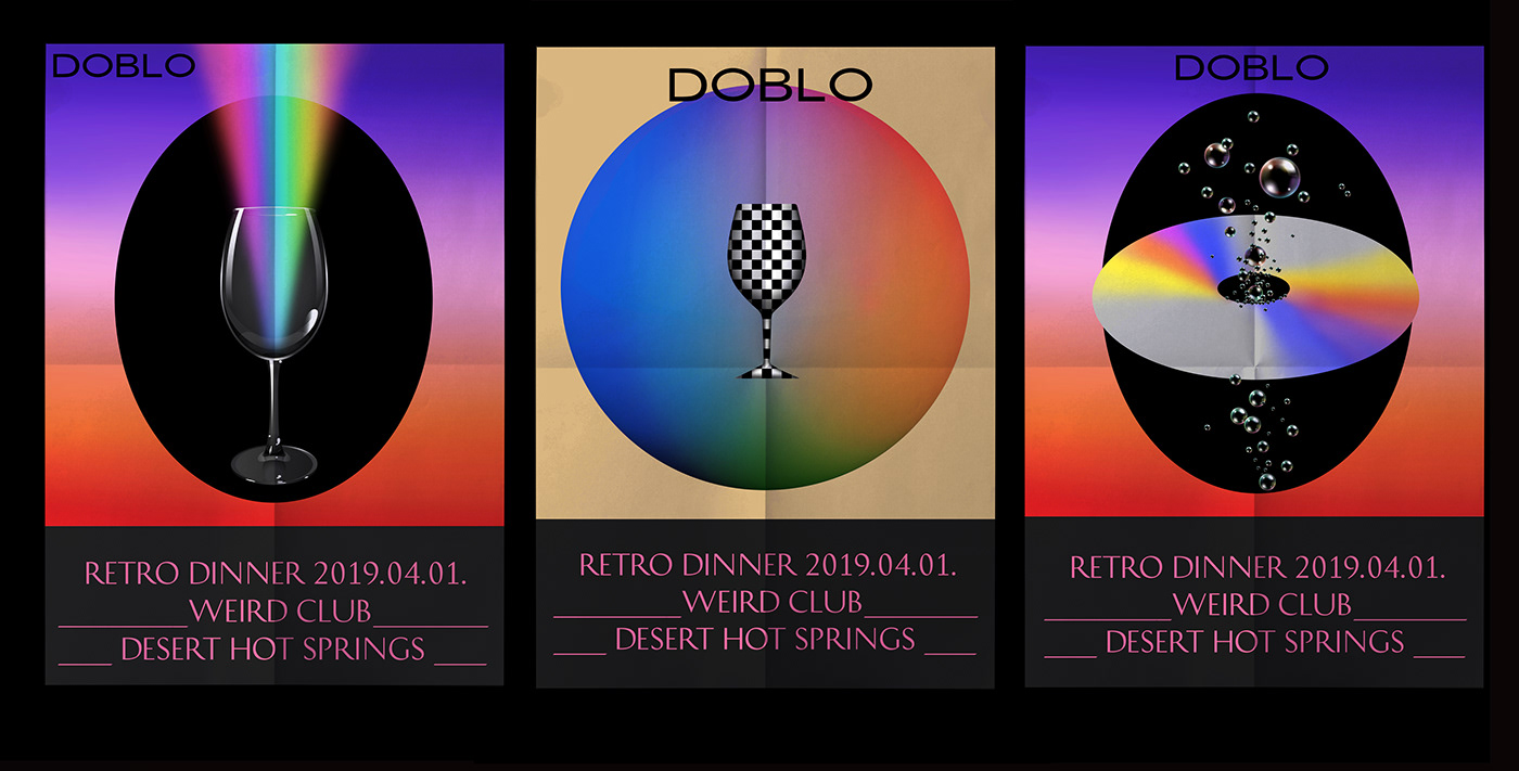 poster graphic Retro music print typography   vapowave gourmet posterdesign typo