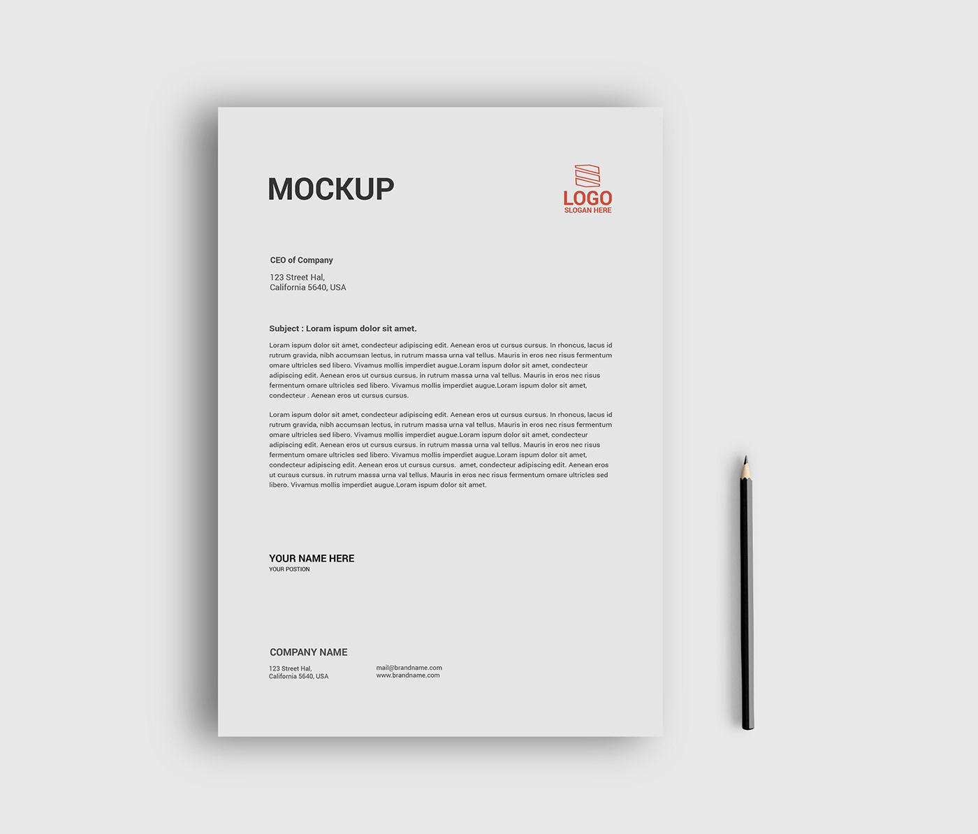 flyer mockup free download Free flyer mockup psd file