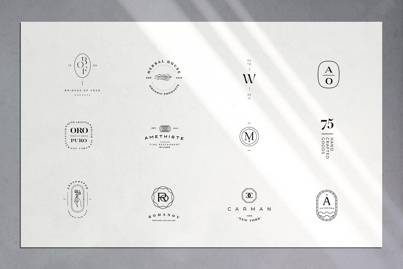 badge branding  business elegant entrepreneur etsy logo luxury template templates