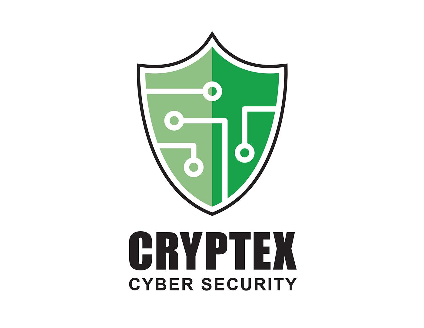 cryptex cyber security logo on behance rh behance net security logo vests security logos free