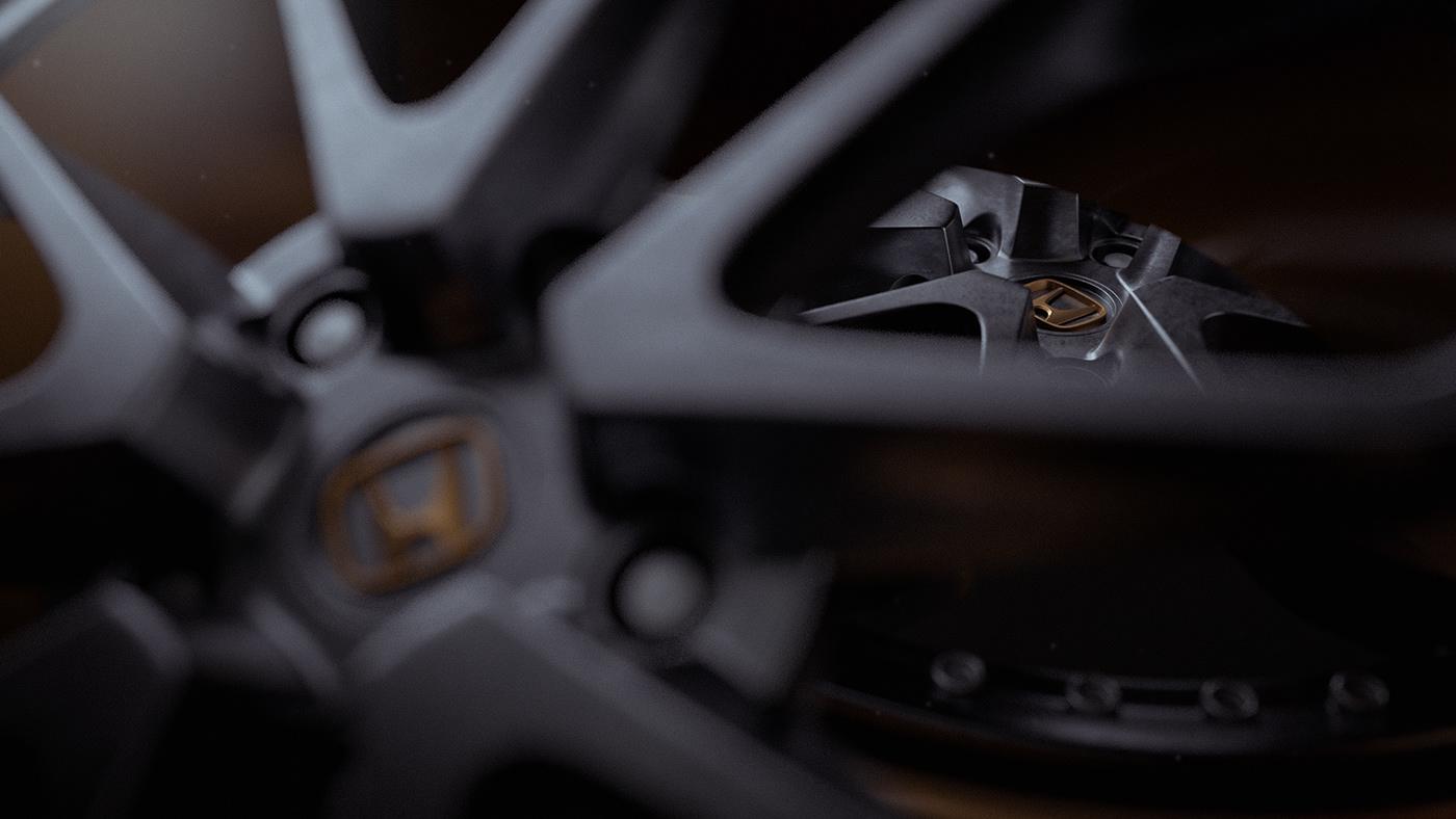 3D cinema4d HardSurface industrial metal modeling rims automotive