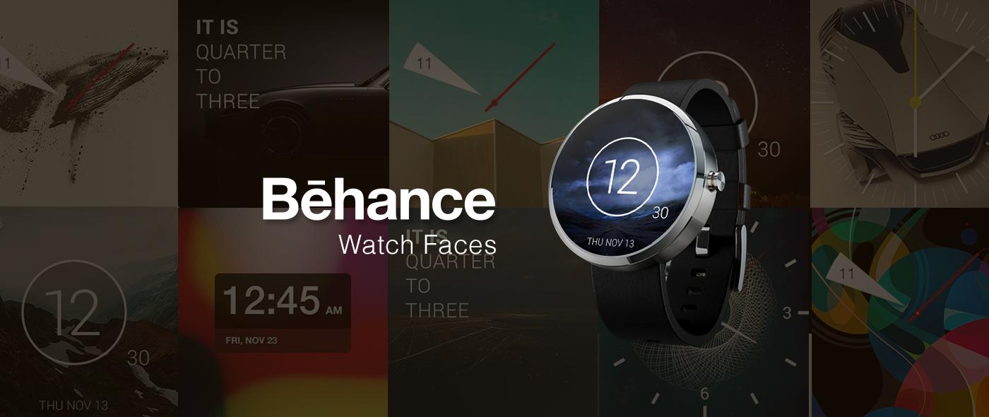 Adobe Portfolio UI ux andriod andriod wear watch watch design Behance