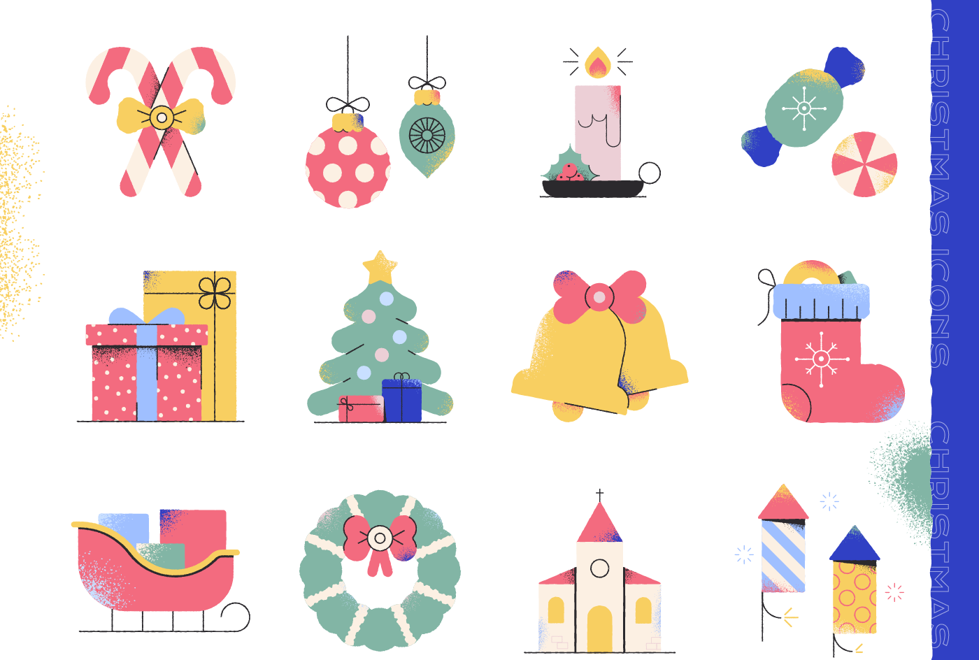 Image may contain: christmas tree, cartoon and illustration