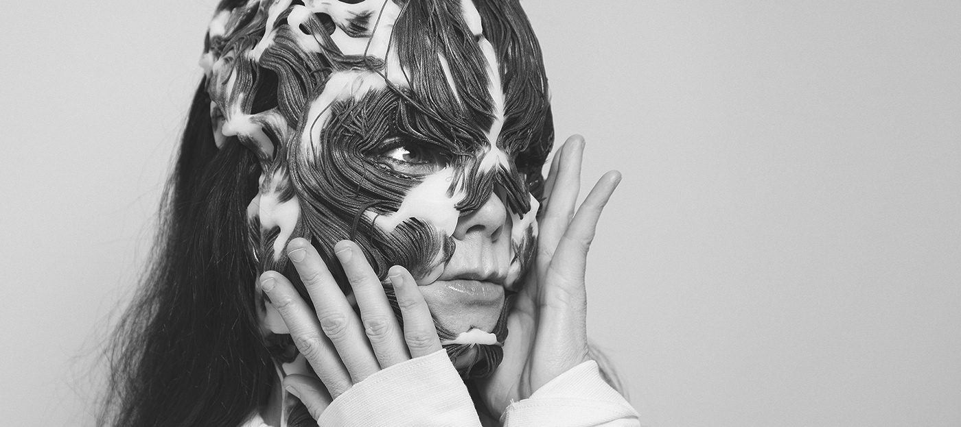 bjork generative design mask procedural design 3d printing
