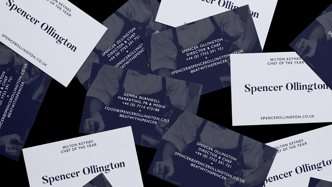 branding  identity logo design print business card Food  chef bespoke Creative Direction