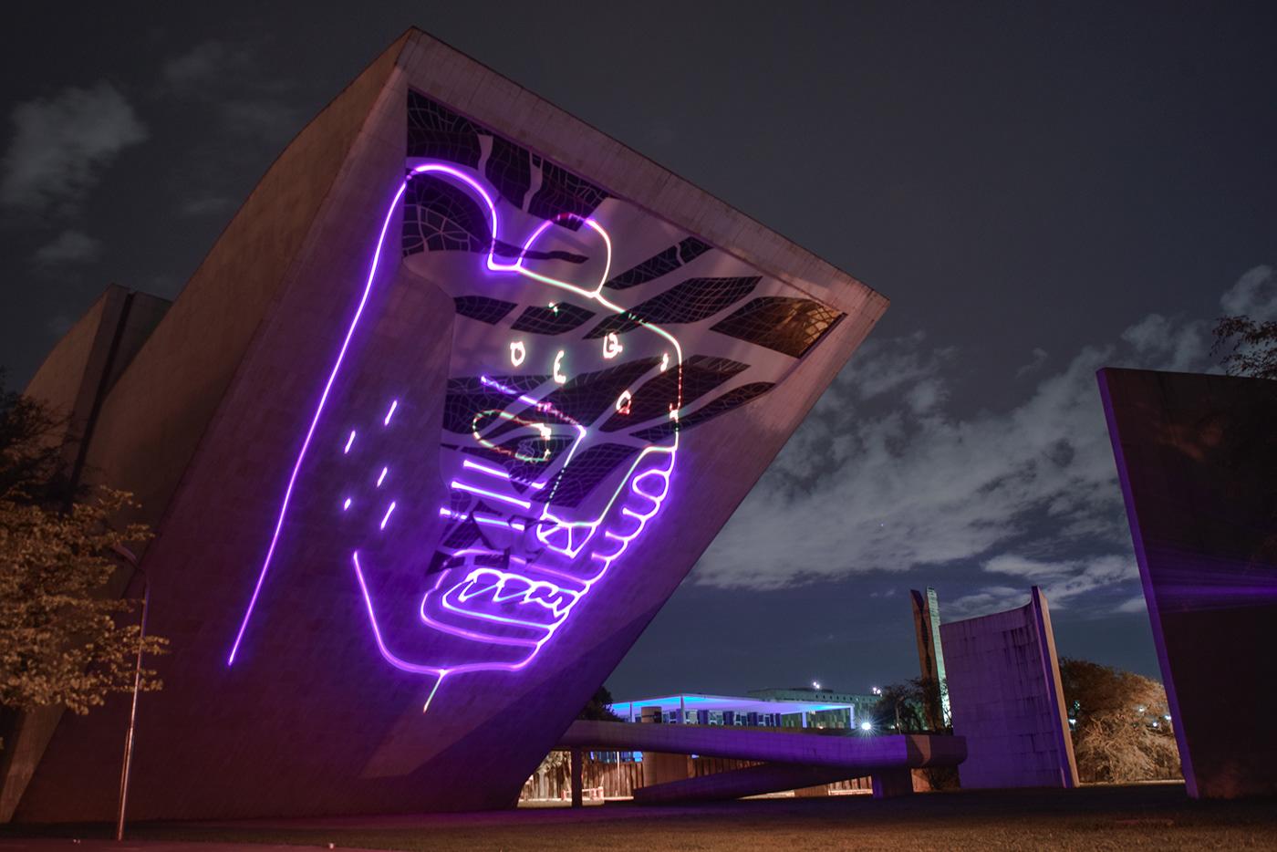 Image may contain: skyscraper and purple