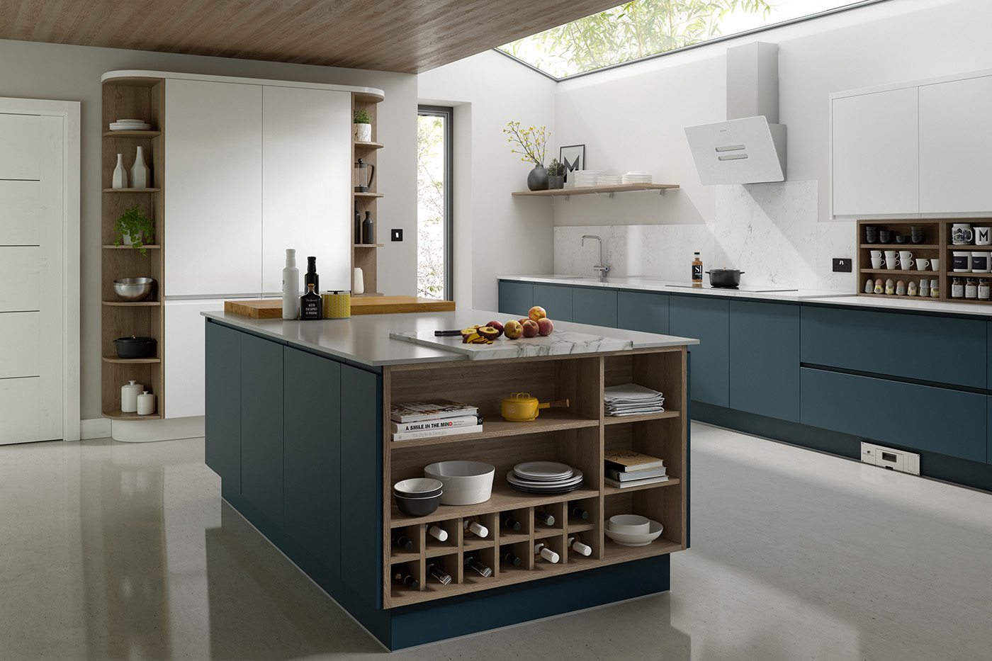 Infinity contemporary kitchens cgi on behance for Infinity kitchen designs