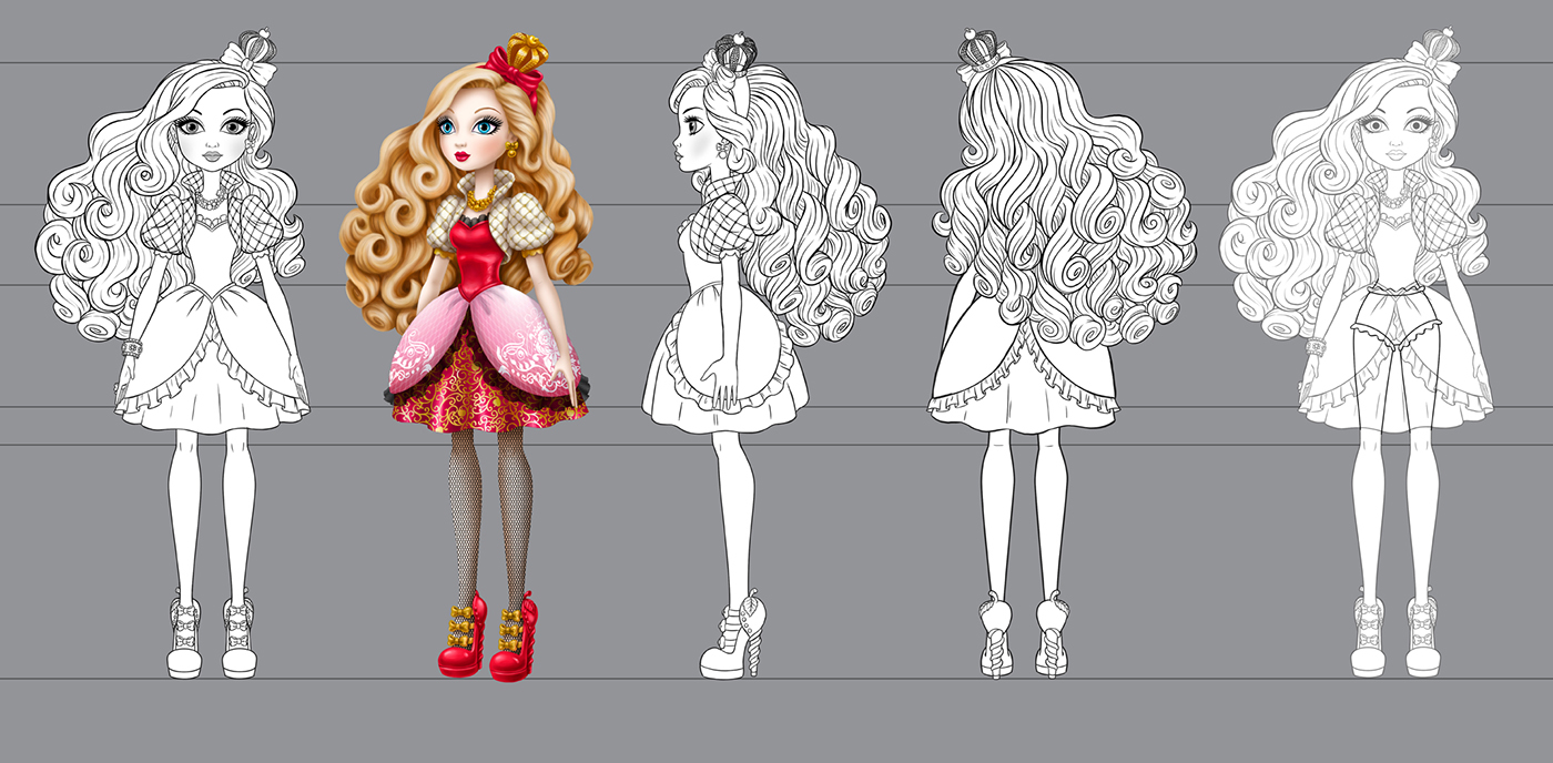 Apple Character Design : Ever after high apple white on behance