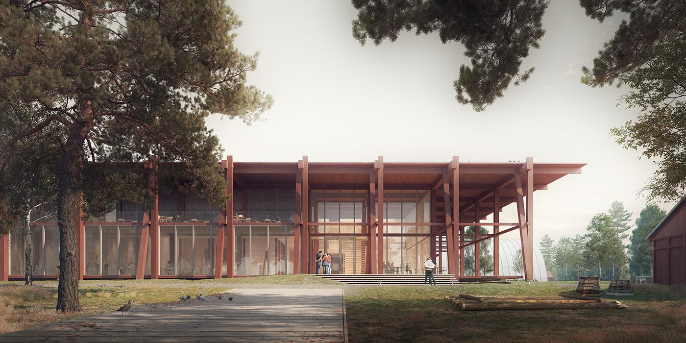 3D architecture CGI exterior graphic design  norway Render Scandinavia visualization