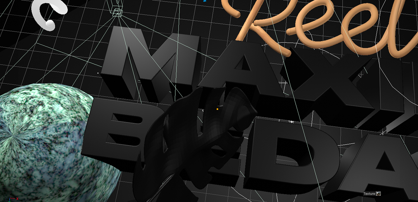 design motion Web identity graphics 3D c4d
