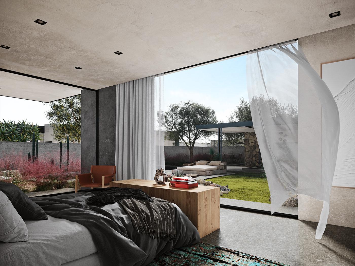 CG corona luxury modern Real State Render Residence