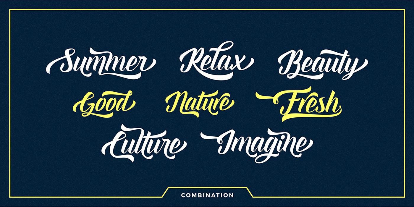 font type Script lettering Retro vintagefont retrofont Display branding  Logotype