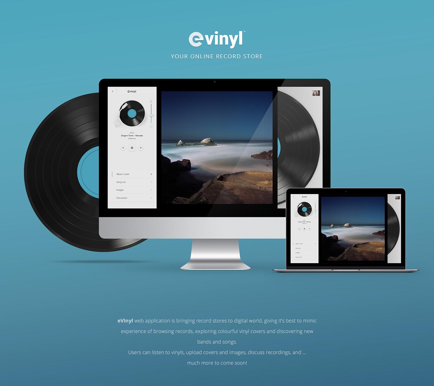 eVinyl - Online record store on Behance