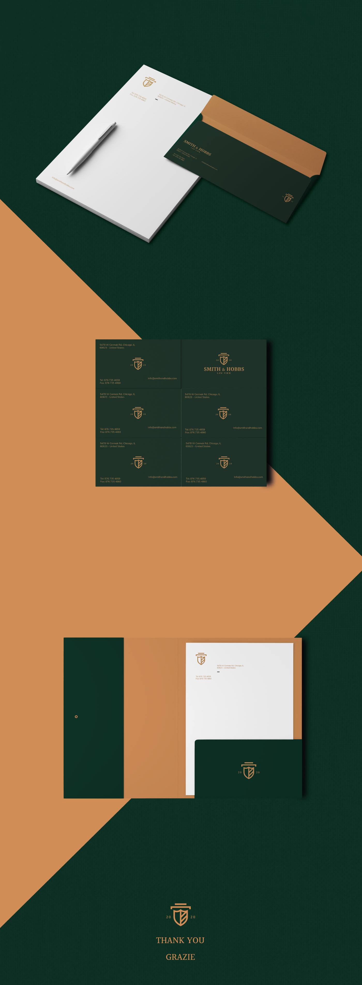 brand identity Corporate Identity elegance law law firm lawyer logo Minimalism Office Stationery