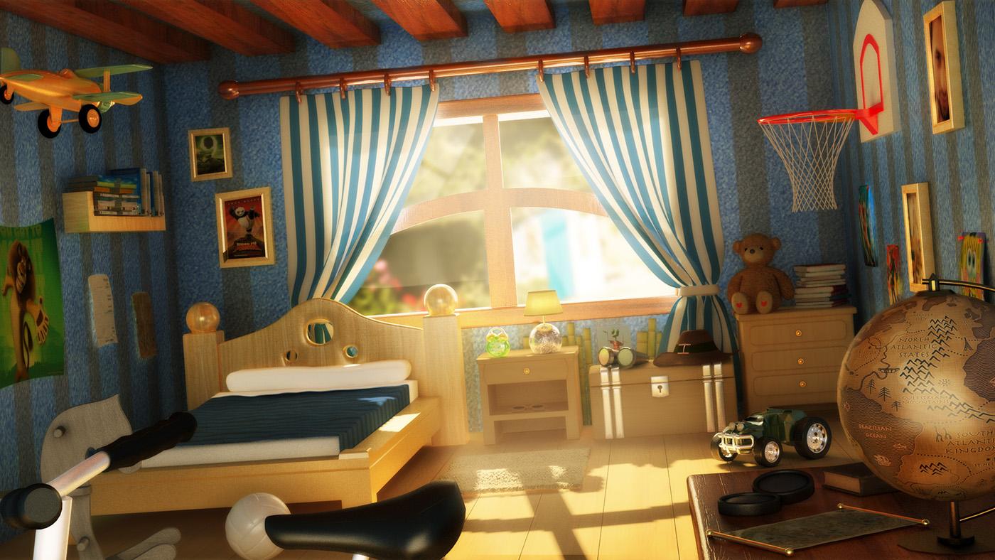 Cartoon Room: 3D Cartoon Room On Behance