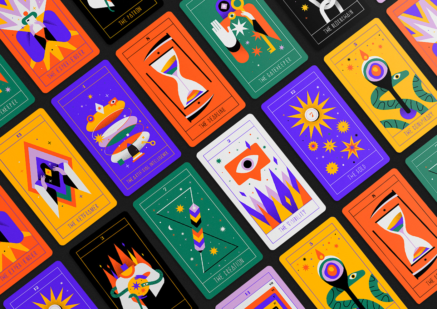 tarot UI ux interaction predicion deck card future Magic