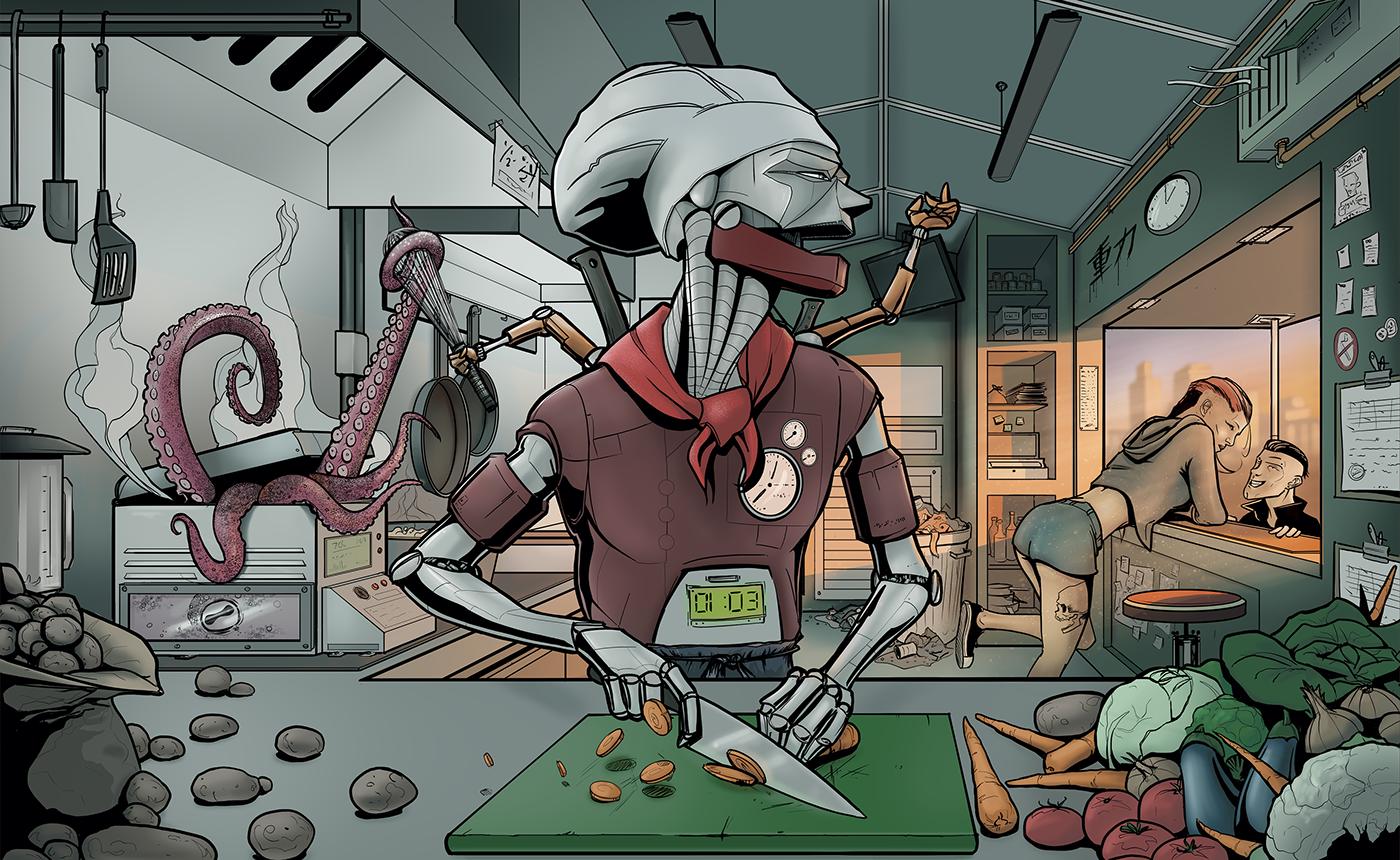 ILLUSTRATION  art comic characterdesign Character conceptart photoshop Drawing  Illustrator concept