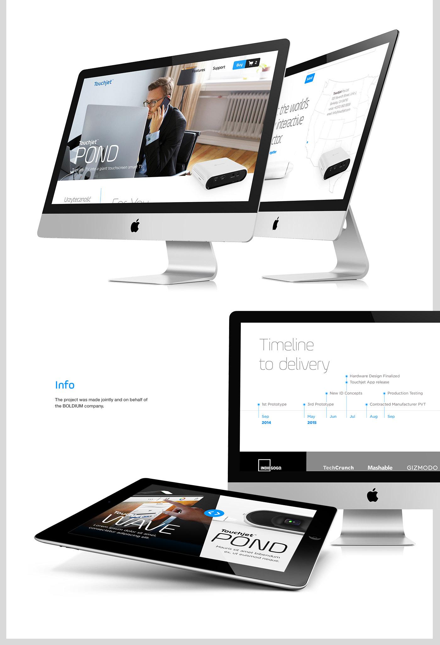Web www site Touchjet wave pond ux uxd UX design