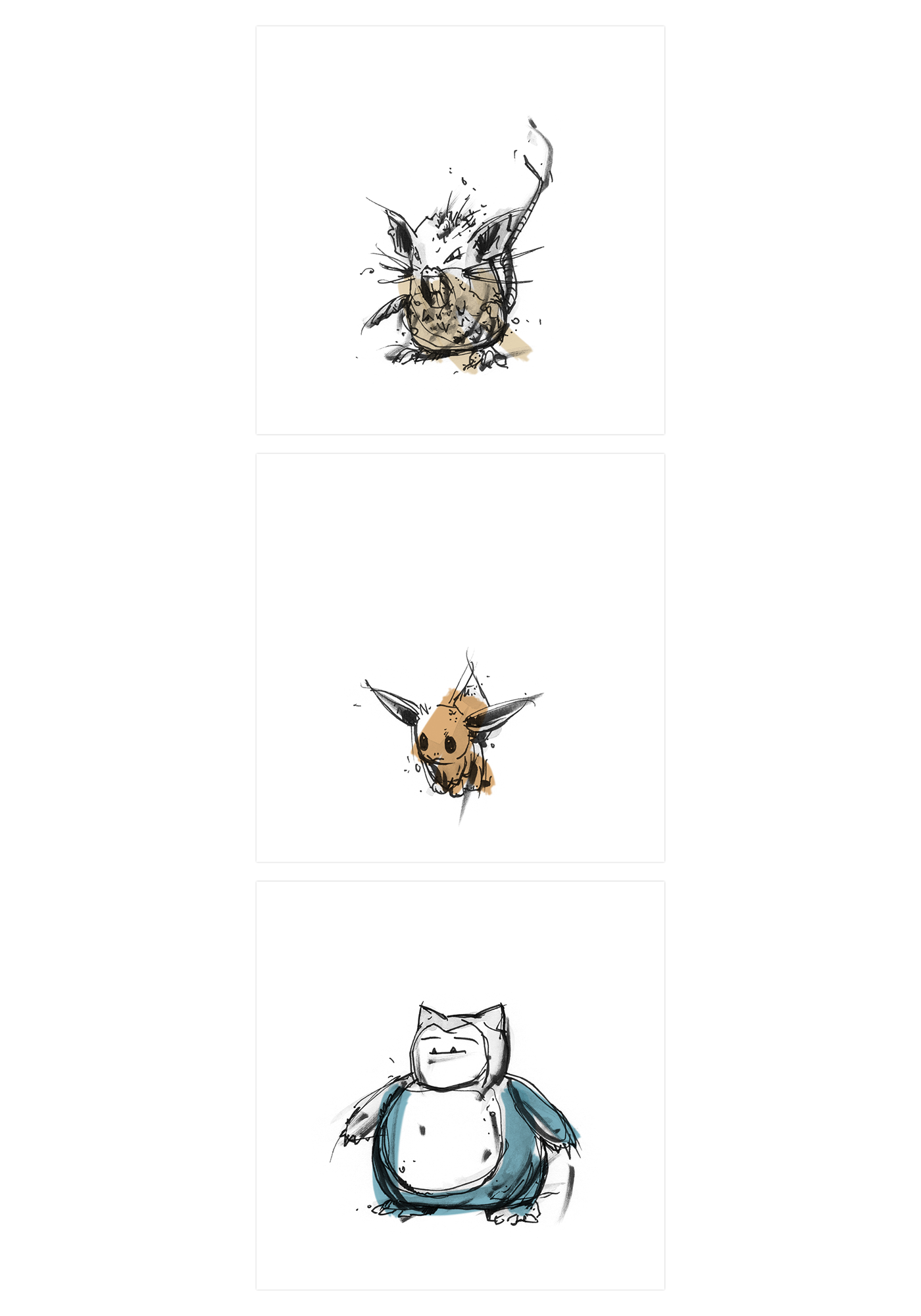 Pokemon pokemon go pikachu analog print sketch Character game ink