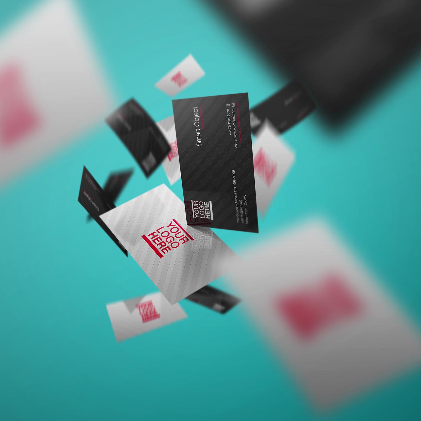 Free PSD - Business Card Mockup Volume 3