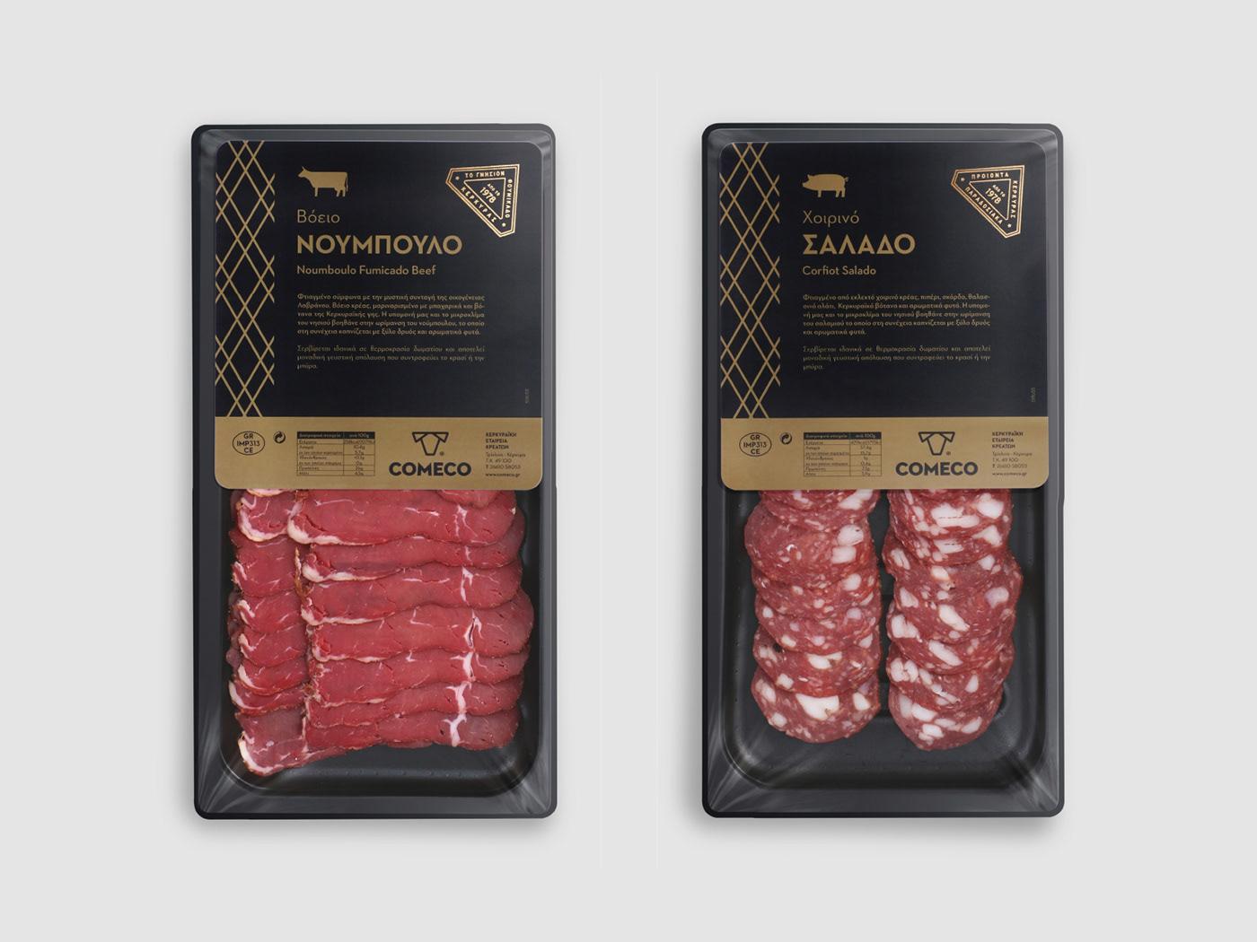 Comeco corfu Greece meat Packaging trivizas