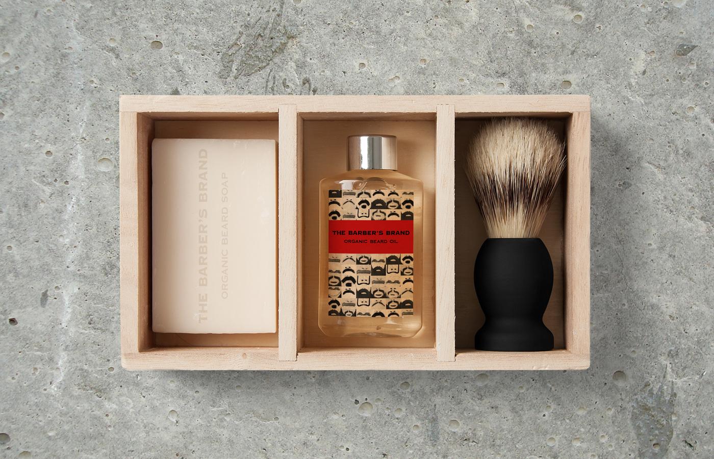 beard Bart moustache men Cosmetic branding  acryl painting   handmade barber