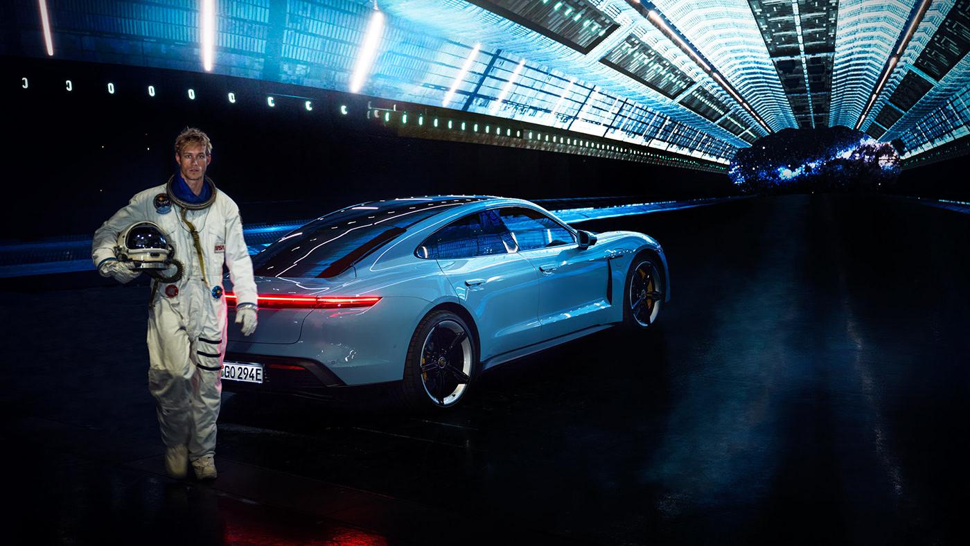 automotive   Hyperbowl led MAGROUND Porsche Ramp transportation