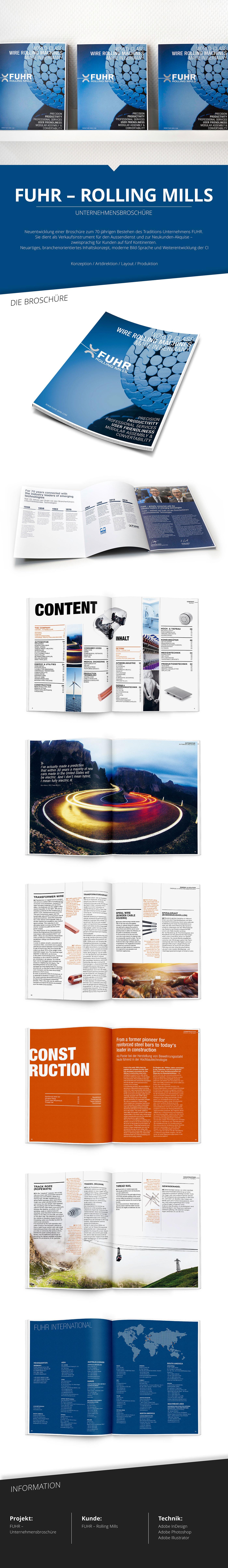 2issue Fuhr Rolling Mills design Unternehmensbroschüre Imagebroschüre Veredelung