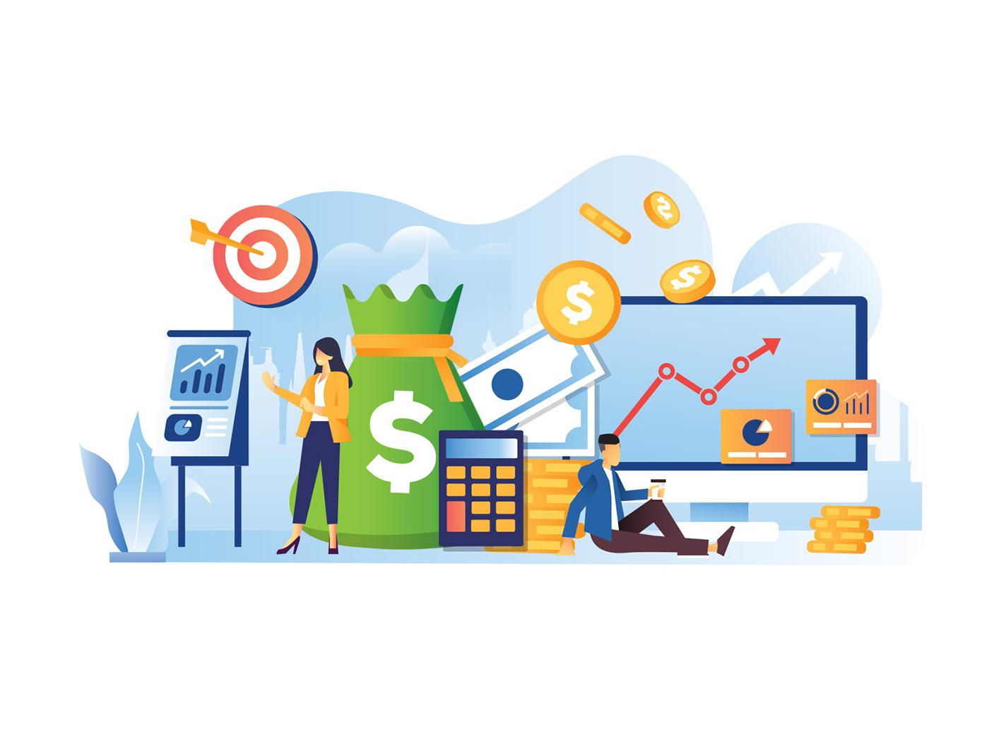 Character freebie ILLUSTRATION  Illustrator Investment Investment Illustration vector vector design vector download Vector Illustration